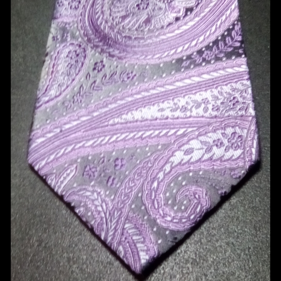 Michael Kors 100% Silk Purple & Grey Tie